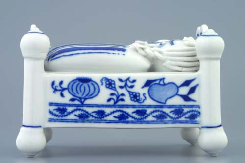 Zwiebelmuster Sweet Container, Original Bohemia Porcelain from Dubi