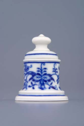 Zwiebelmuster Pin Box 5.2cm, Original Bohemia Porcelain from Dubi