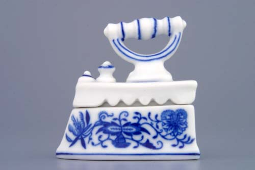 Zwiebelmuster Mini Iron 6.5cm, Original Bohemia Porcelain from Dubi