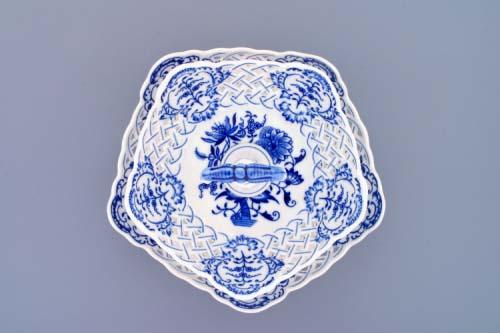 Zwiebelmuster 2pcs Tier Stand, 5 edges Set, Original Bohemia Porcelain from Dubi