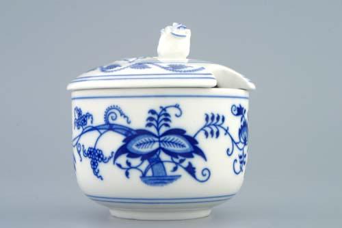 Zwiebelmuster Sugar Container no Hadles 0.20L, Original Bohemia Porcelain from Dubi