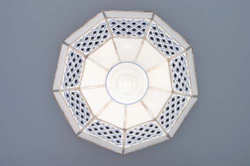 Zwiebelmuster Lampshade Perforated 25cm, Original Bohemia Porcelain from Dubi