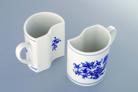 Zwiebelmuster 2 Mugs Set 2x0.24L, Original Bohemia Porcelain from Dubi