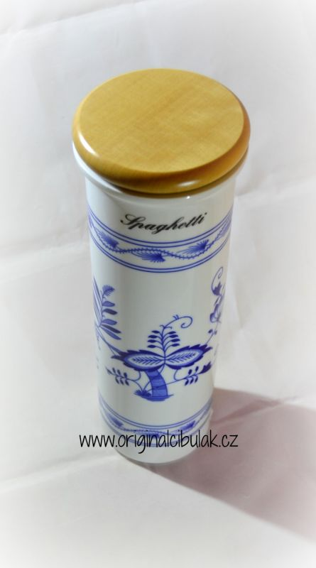 Zwiebelmuster Spaghetti Container 28.5cm, Original Bohemia Porcelain form Dubi