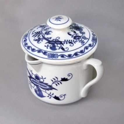 Zwiebelmuster Mug with Cover 0.90L, Original Bohemia Porcelain from Dubi