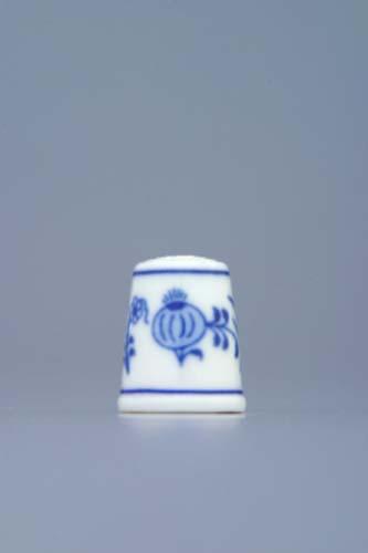 Zwiebelmuster Thimble 2.3cm, Original Bohemia Porcelain from Dubi