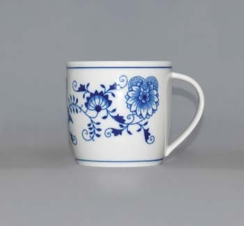 Zwiebelmuster Mug Andreas M 0.26L, Original Bohemia Porcelain from Dubi