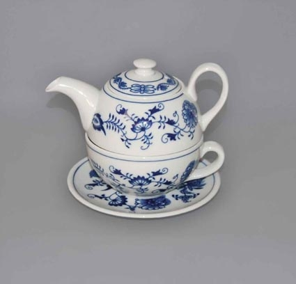 Zwiebelmuster Tea Set Duo,Original Bohemia Porcelain from Dubi