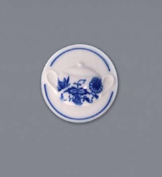 Zwiebelmuster Magnet Round 4.5cm, Original Bohemia Porcelain from Dubi