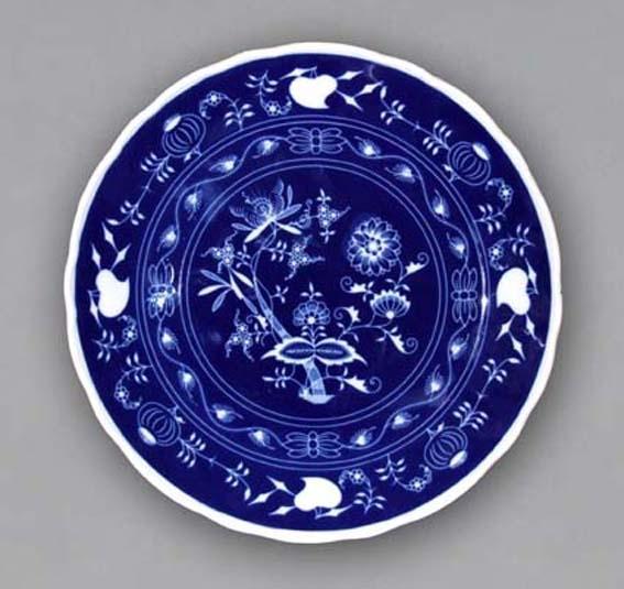 Nega Zwiebelmuster Club Plate 30cm, Bohemia Porcelain from Dubi
