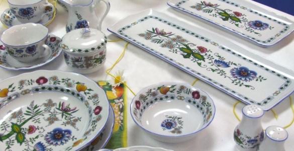 Zwiebelmuster Teekanne mit Sieb 1,20L Nature zwiebelmuster farbig bohemia Porzellan aus Dubi