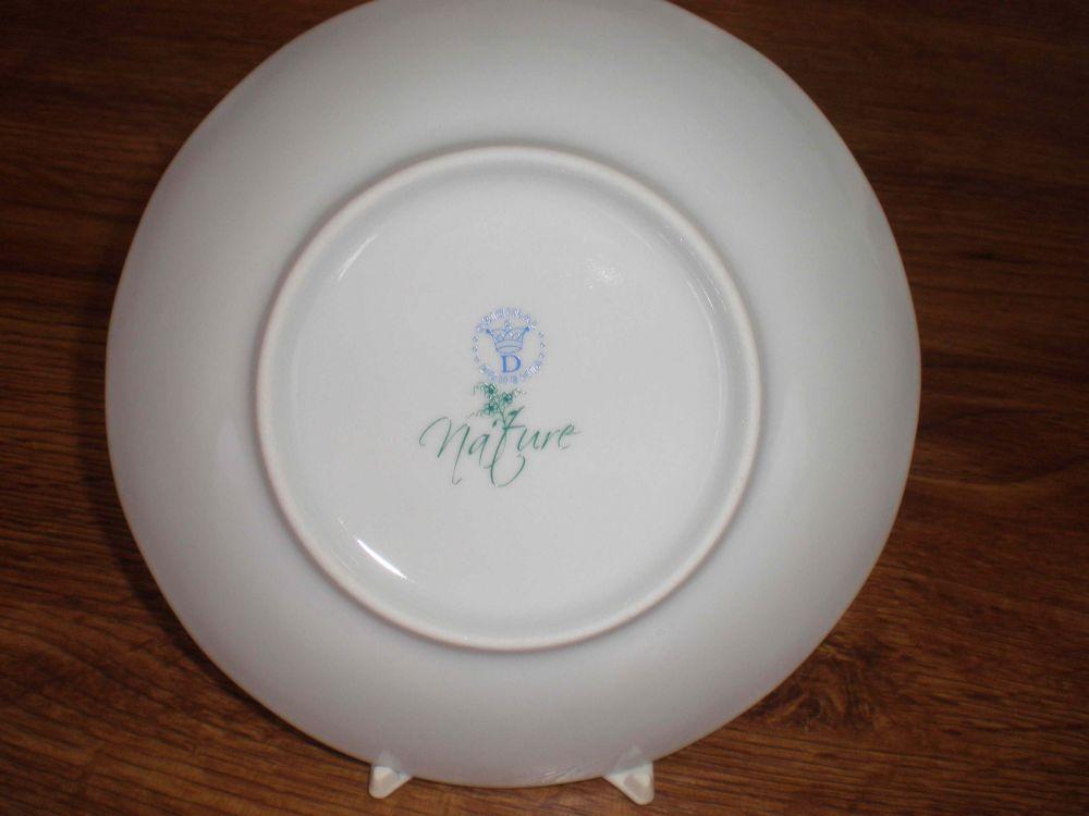 Nature Zwiebelmuster Flat Deep Plate 24cm, Bohemia Porcelain from Dubi
