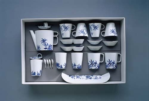 Zwiebelmuster Tea set Bohemia Cobalt, Bohemia Porcelain from Dubi