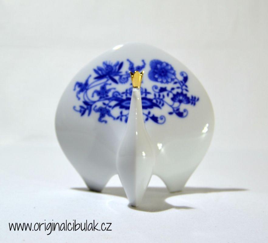 Zwiebelmuster Peacock 12.5cm, Original Bohemia Porcelain from Dubi