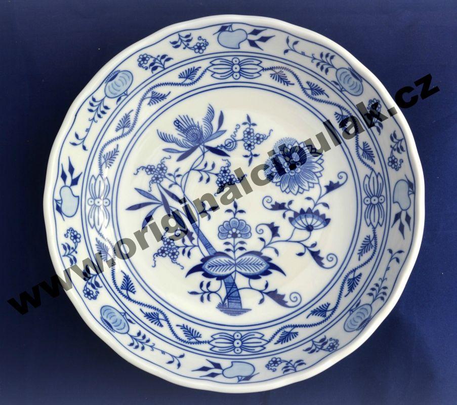 Zwiebelmuster Fruit Bowl 27.5cm, Original Bohemia Porcelain from Dubi