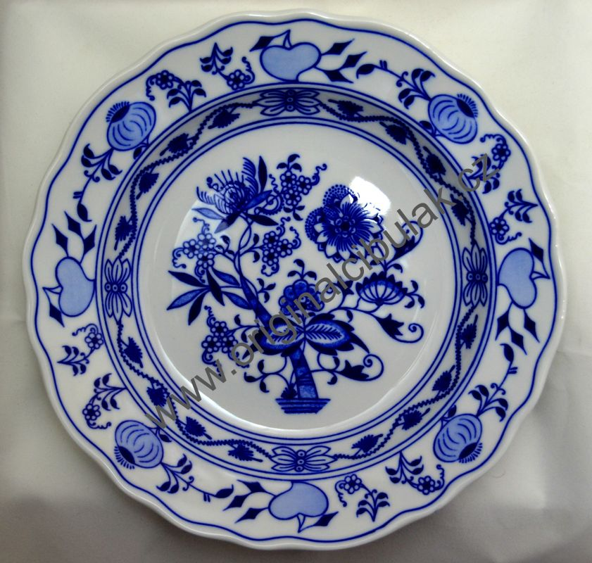 Zwiebelmuster Tschechien Teller 24 cm Original Karlsbader Porzellan aus Dubi