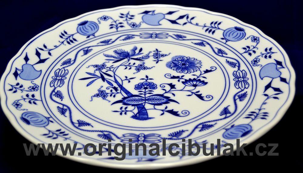 Zwiebelmuster Verein Platte 30cm Original Bohemia Porzellan aus Dubi