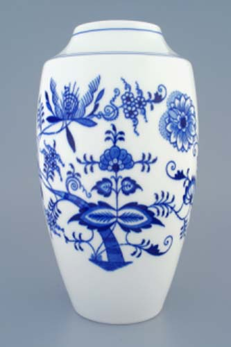 Zwiebelmuster Vase 1211 27cm, Original Bohemia Porcelain from Dubi