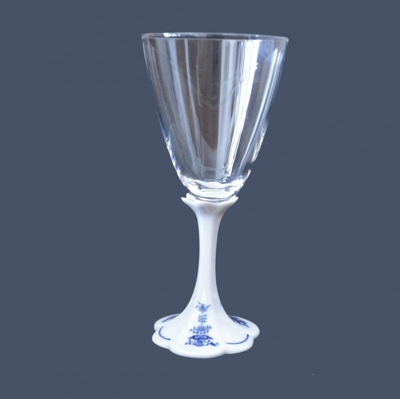Kristall Gläser Zwiebelmuster Weisswein 200 ml Original Bohemia Porzellan aus Dubi