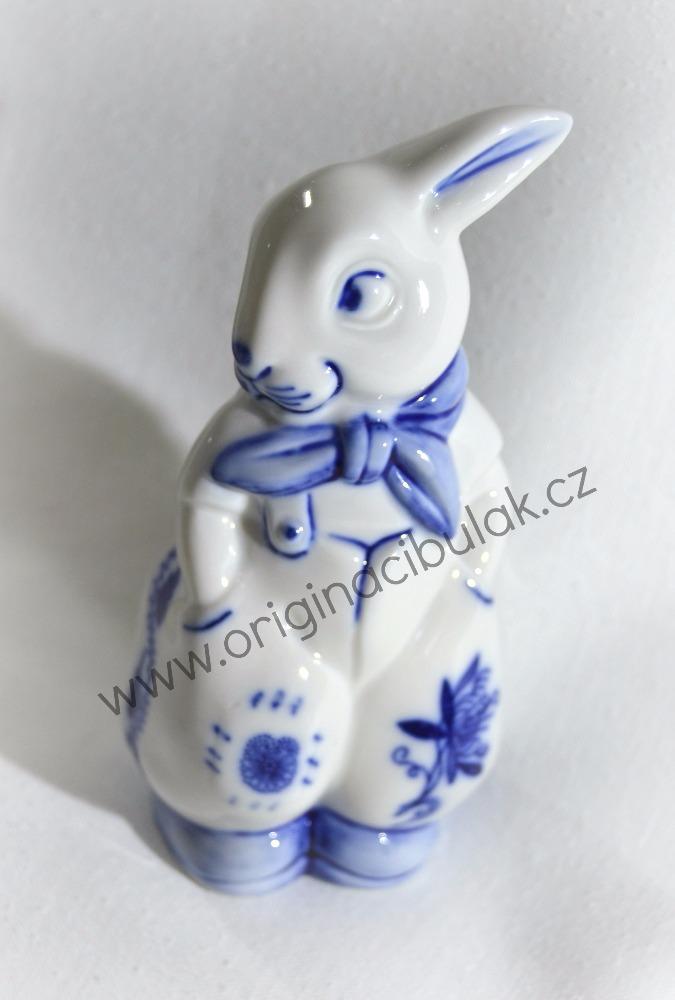 Zwiebelmuster Hase mit Hose 11cm Original Bohemia Porzellan aus Dubi