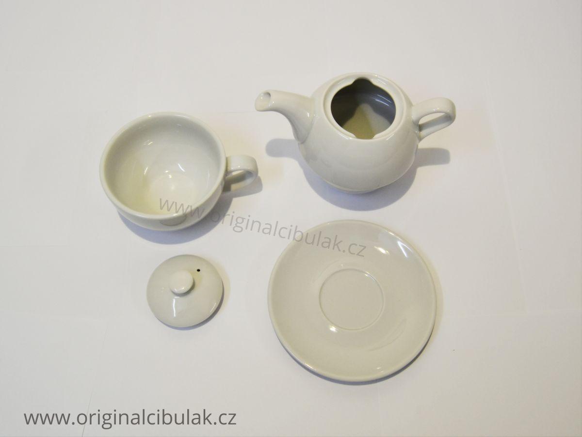 Teeservice weiß Duo dreiteilig 0,45 l weißes Porzellan Dubí 1. Wahl