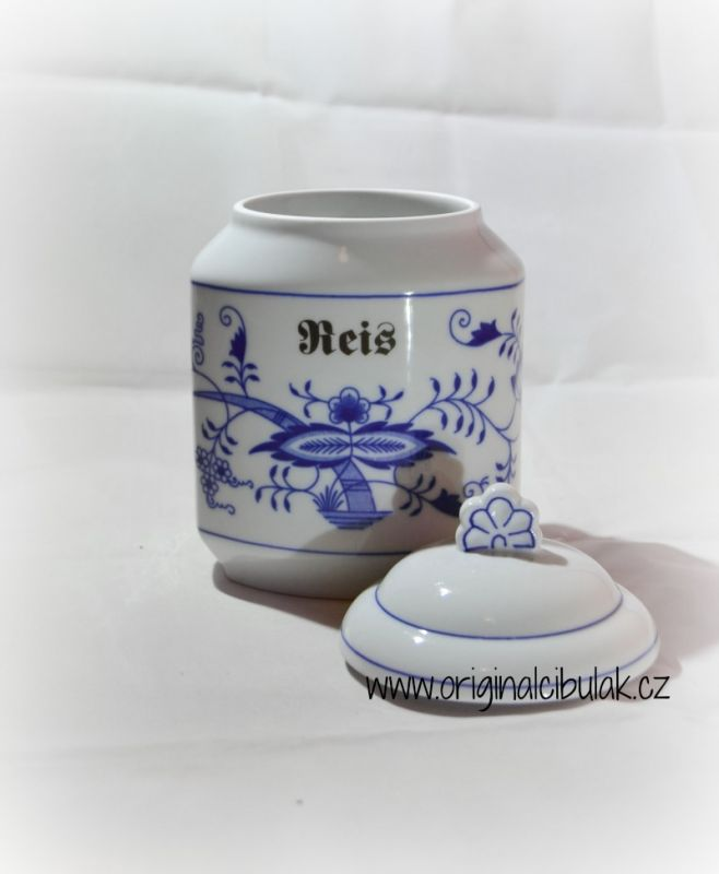 Zwiebelmuster Box for Foodstuff, Original Bohemia Porcelain from Dubi