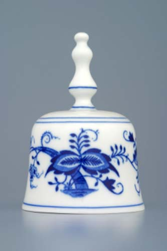 Zwiebelmuster Bell 11cm, Original Bohemia Porcelain from Dubi
