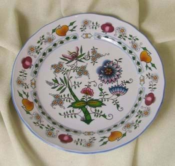 Eco Zwiebelmuster Flat Plate 26cm, Bohemia Porcelain from Dubi