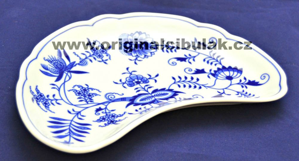Zwiebelmuster Dish for Bones 22cm, Original Bohemia Porcelain from Dubi