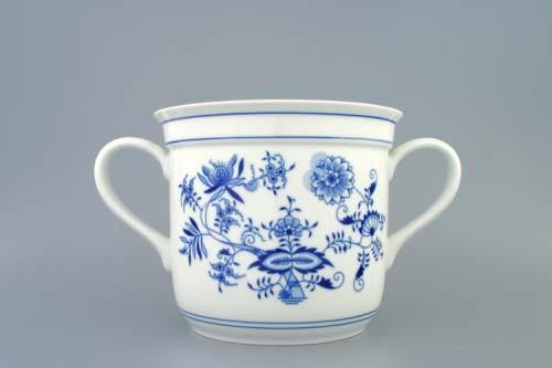 Zwiebelmuster Czech Mug with 2 Handles, Original Bohemia Porcelain from Dubi
