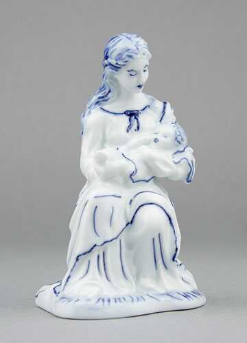 Zwiebelmuster Virgin Mary, Original Bohemia Porcelain from Dubi