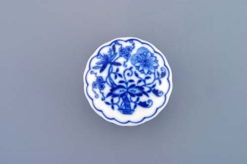 Zwiebelmuster Container for Pills 5cm, Original Bohemia Porcelain from Dubi