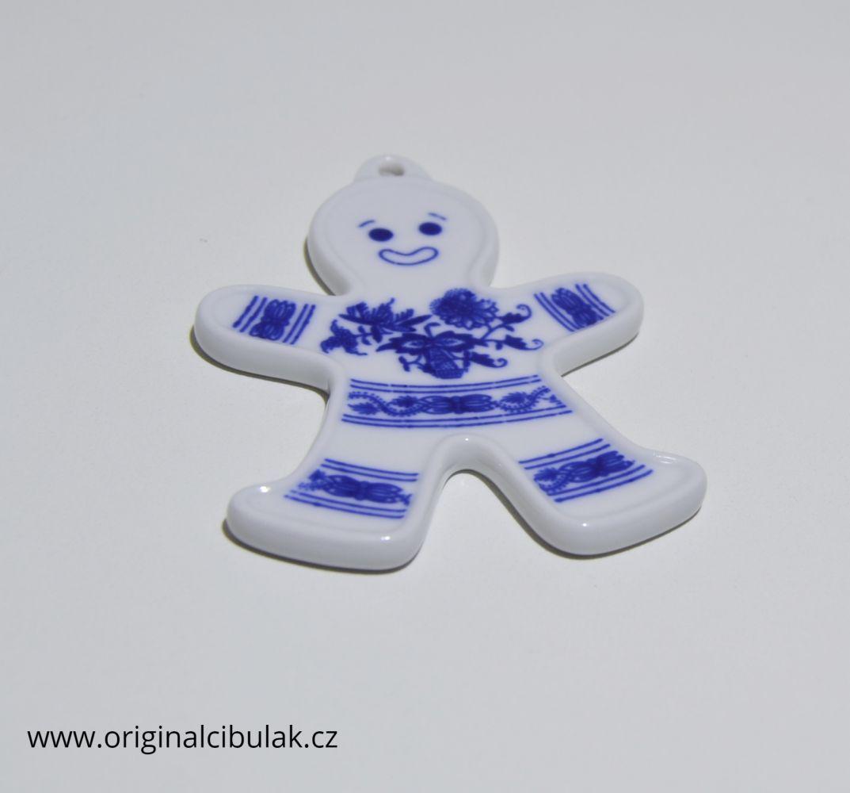 Zwiebelmuster Christmas Decoration Sock, Original Bohemia Porcelain from Dubi