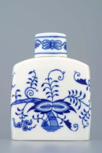 Zwiebelmuster Tea Box with Cover 12cm, Original Bohemia Porcelain aus Dubi