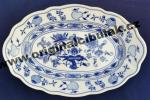 Zwiebelmuster Oval Dish 28cm, Original Bohemia Porcelain from Dubi