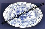 Zwiebelmuster Oval Dish 24cm, Original Bohemia Porcelain from Dubi
