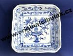 Zwiebelmuster Salad Dish Square 24cm, Original Bohemia Porcelain from Dubi