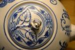 Zwiebelmuster Tea Pot with Sieve 2.0L, Original Bohemia Porcelain from Dubi