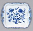 Zwiebelmuster Square Tray Aida, Original Bohemia Porcelain from Dubi