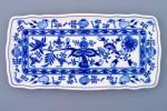 Zwiebelmuster Square Tray 33cm, Original Bohemia Porcelain from Dubi