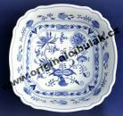 Zwiebelmuster Salad Dish Square 26cm, Original Bohemia Porcelain from Dubi