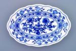 Zwiebelmuster Oval Dish 20cm, Original Bohemia Porcelain from Dubi