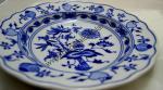 Zwiebelmuster Flat Plate Deep 21cm, Original Bohemia Porcelain from Dubi