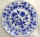 Zwiebelmuster Flat Plate 21cm, Original Bohemia Porcelain from Dubi