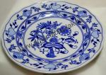 Zwiebelmuster Flat Plate 24cm, Original Bohemia Porcelain from Dubi