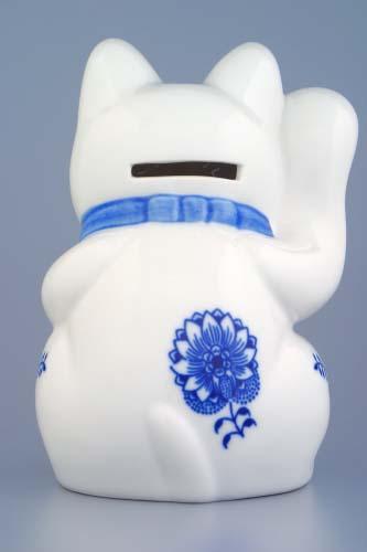 Zwiebelmuster Einladungskatze 16cmOriginal Bohemia Porzellan aus Dubi
