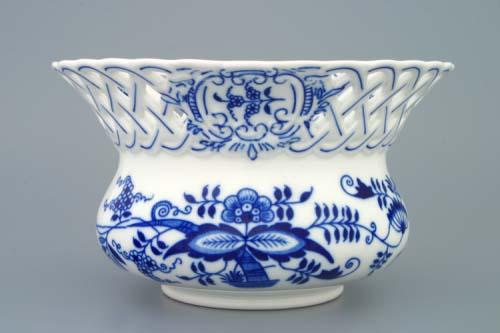 Zwiebelmuster Blumentopf durchbrochen 11cm Original Bohemia Porzellan aus Dubi