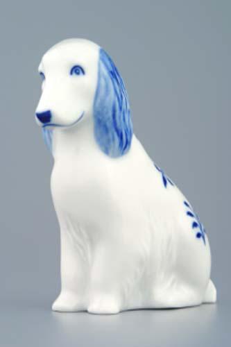Zwiebelmuster Hund 10cm Original Bohemia Porzellan aus Dubi