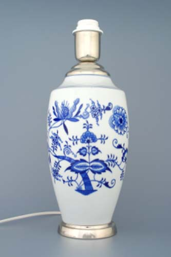 Zwiebelmuster Lampensockel - Vase 1211 27cm Original Bohemia Porzellan aus Dubi