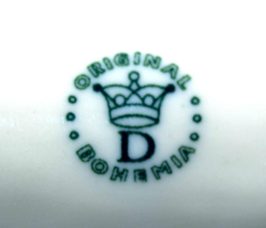 Zwiebelmuster Zahnstochbehälter 8cm Original Bohemia Porzellan aus Dubi